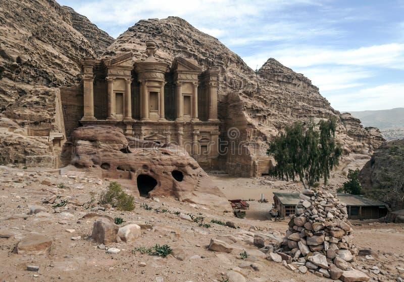 O monastério de PETRA foto de stock