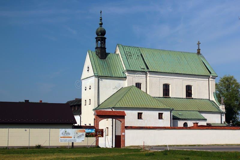 O monastério em Stalowa Wola, Polônia fotos de stock