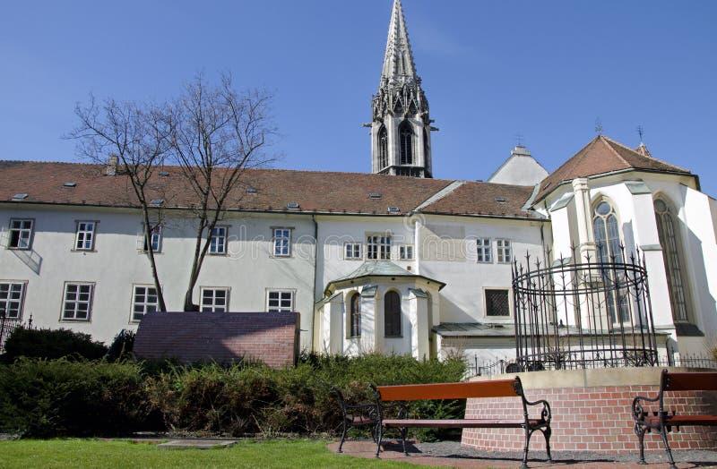 O monastério franciscan, Bratislava, Slovakia fotos de stock royalty free