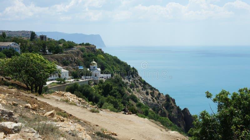 O monastério monastério-ortodoxo de Balaklava St George de acordo com a legenda, o monastério foi fundado em 891 pelo sailo grego foto de stock