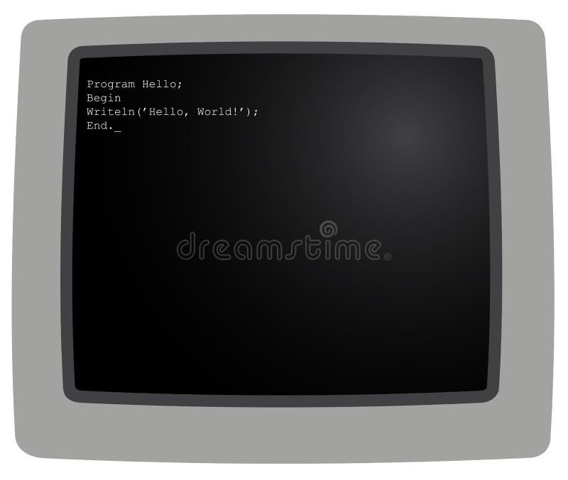 O monitor ilustração stock