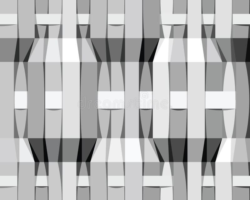 O Monochrome listra o teste padrão sem emenda ilustração do vetor