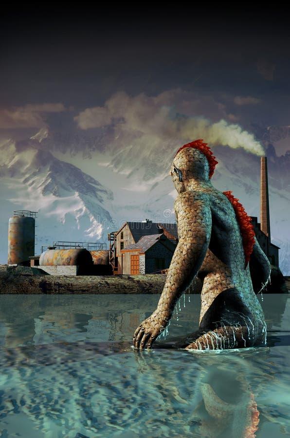 O monstro do pântano ilustração stock