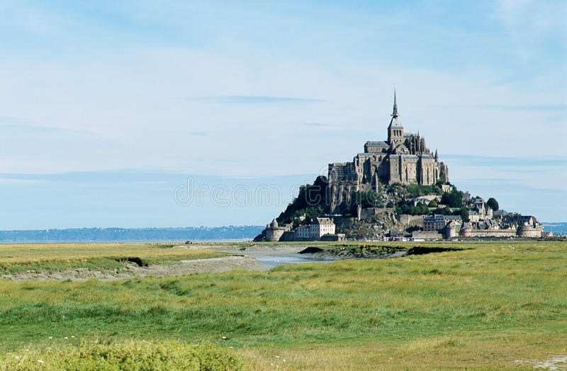 O mont Saint-Michel em Normandy, France fotografia de stock royalty free