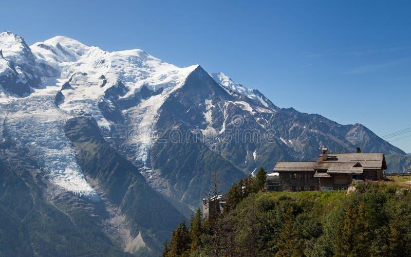 O Monte Branco de Brevent fotos de stock royalty free