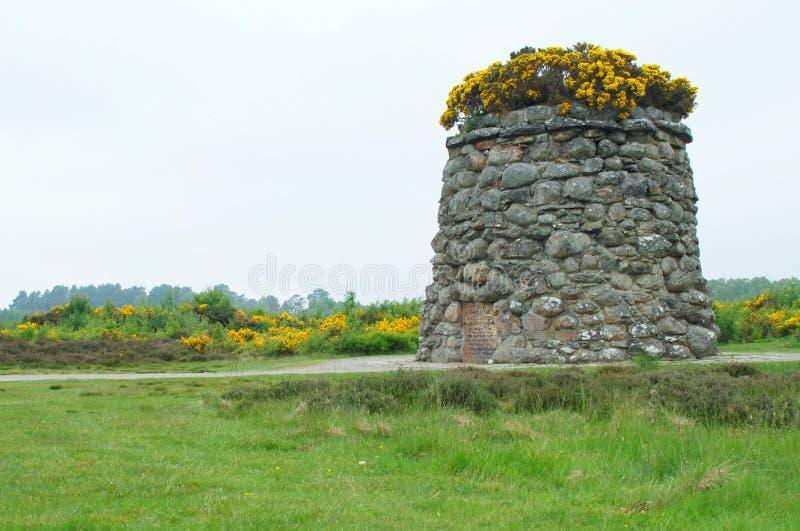 O monte de pedras memorável de Jacobite em Culloden amarra fotos de stock royalty free