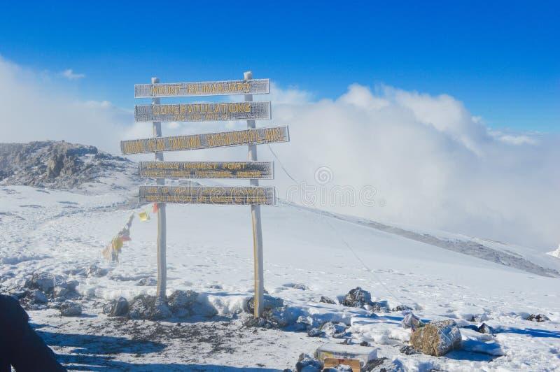 O Monte Kilimanjaro foto de stock