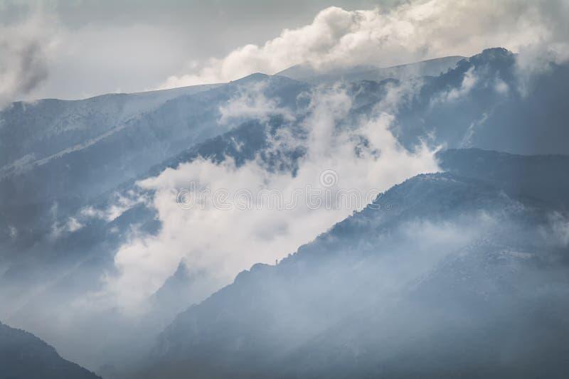 O Monte Olimpo - home dos deuses Pieria, Grécia fotos de stock