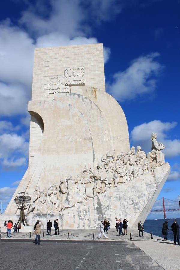 O monumento às descobertas fotos de stock