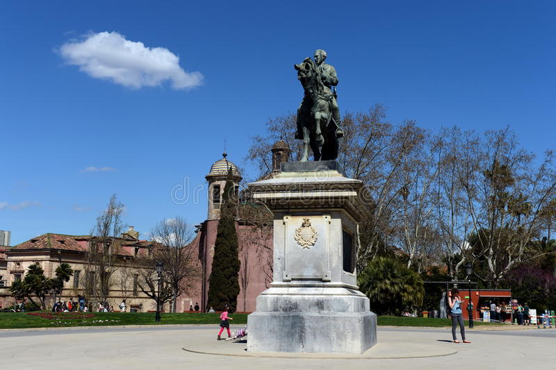 O monumento ao general Joan Take no parque da citadela imagem de stock