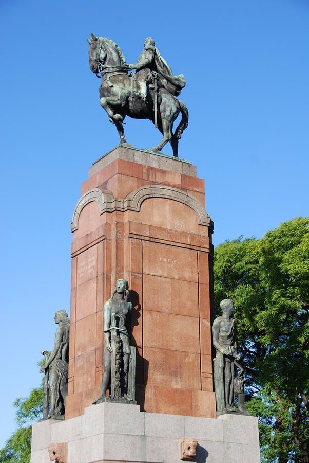 O monumento ao general San Martin foto de stock