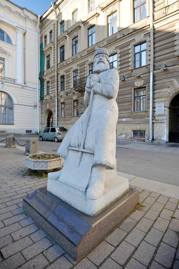 O monumento ao guarda de serviço em St Petersburg fotografia de stock royalty free