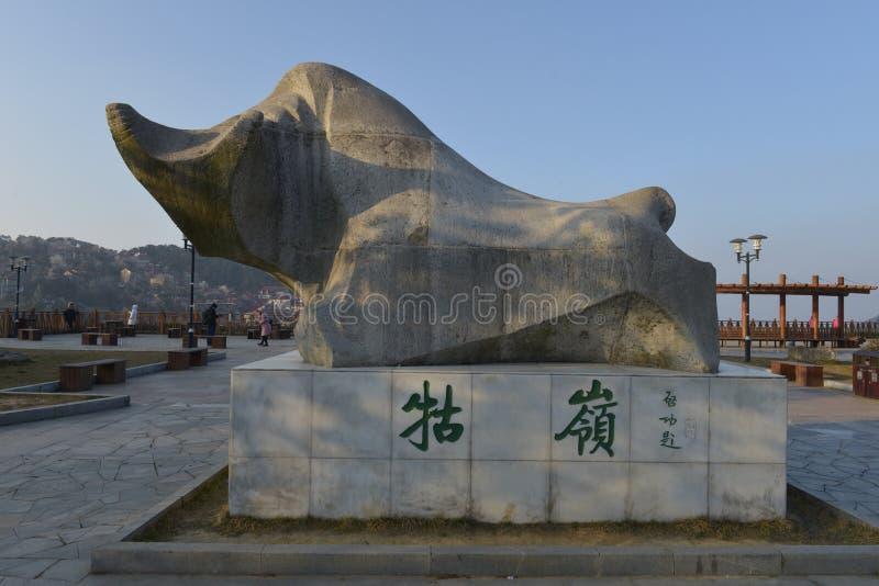 O monumento da cidade de Guling na montanha de Lushan imagens de stock royalty free