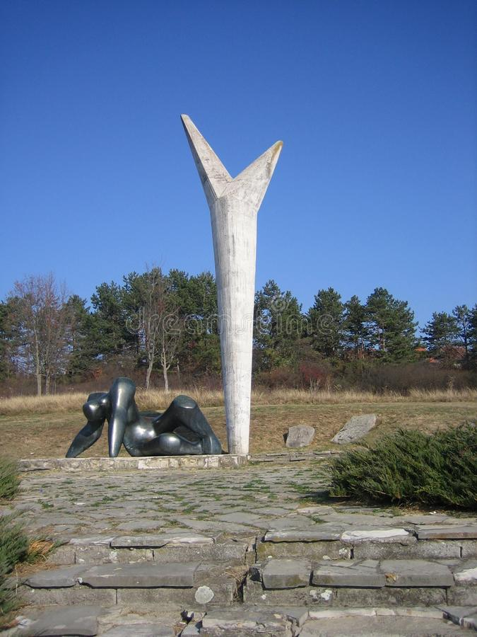 O monumento da resistência e da liberdade fotografia de stock