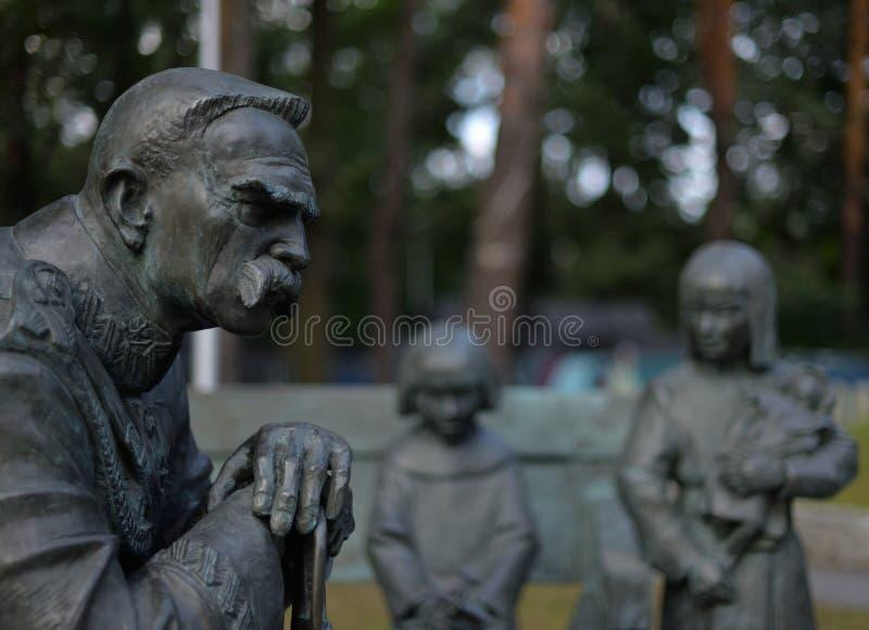 O monumento de Jozef Pilsudski foi ficado situado em Sulejowek perto de Varsóvia A foto de stock