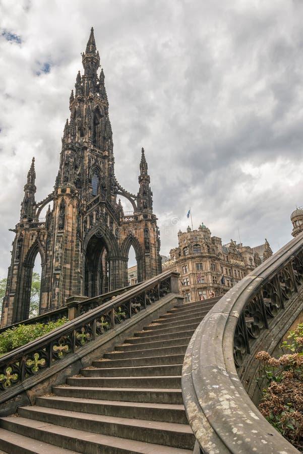 O monumento de ScottÂ, a história de scotland e a arquitetura, Edimburgo fotografia de stock royalty free
