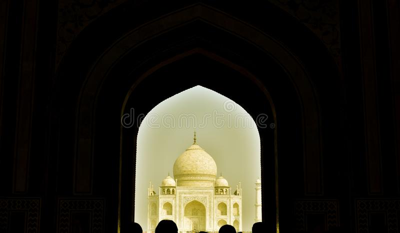 O monumento de Taj Mahal do amor fotos de stock