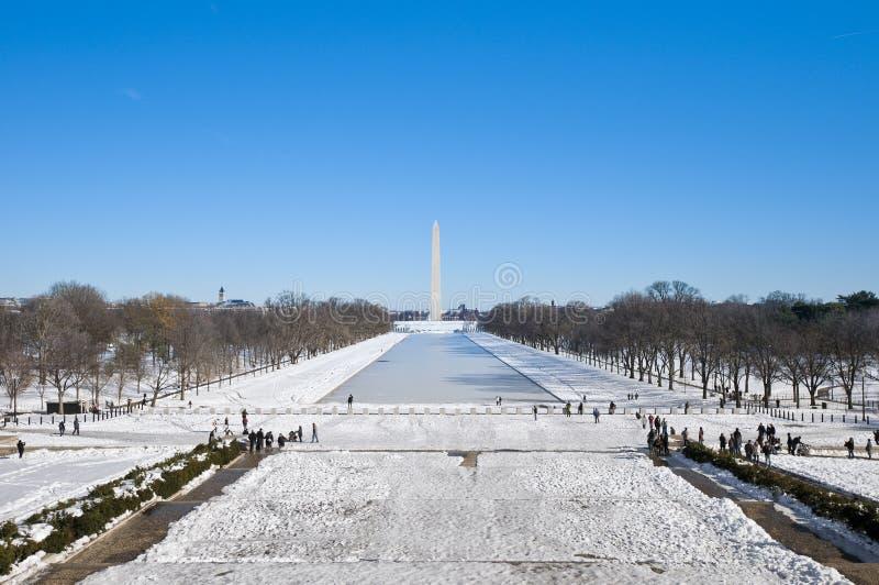 O monumento de Washington na alameda na C.C., EUA fotografia de stock royalty free