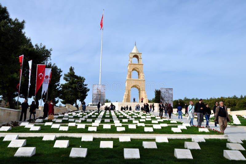 57.o monumento del regimiento de infantería, Gallipoli imagen de archivo libre de regalías