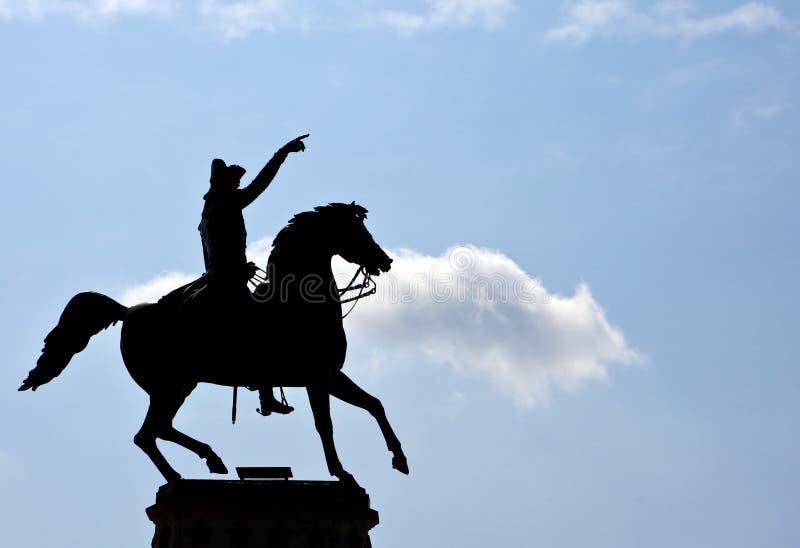 O monumento do Equestrian de George Washington imagens de stock royalty free