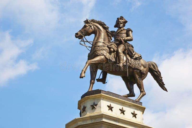 O monumento do Equestrian de George Washington fotos de stock