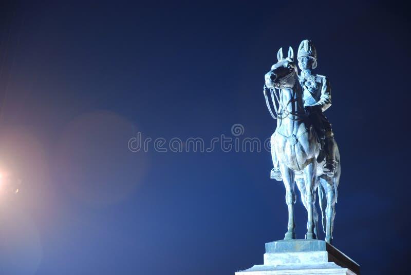 O monumento do rei Rama cinco de Tailândia imagem de stock royalty free