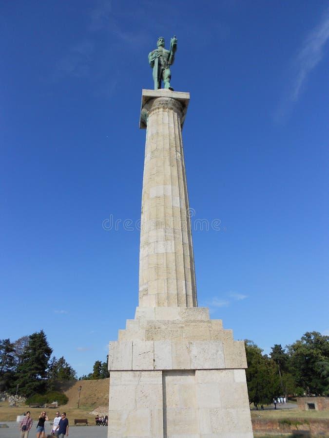 O monumento do vencedor, monumento de Pobednik, Belgrado imagens de stock