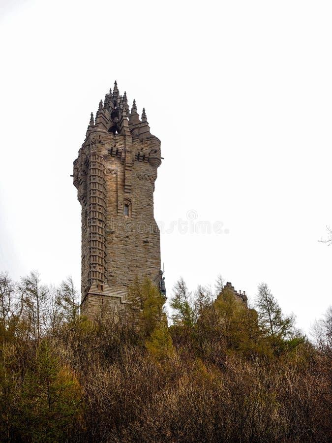 O monumento nacional de Wallace, Stirling, Reino Unido fotos de stock