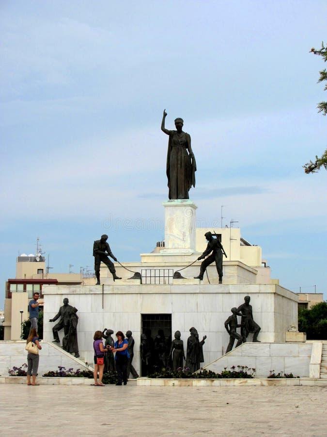 O monumento Nicosia da liberdade, Chipre fotografia de stock