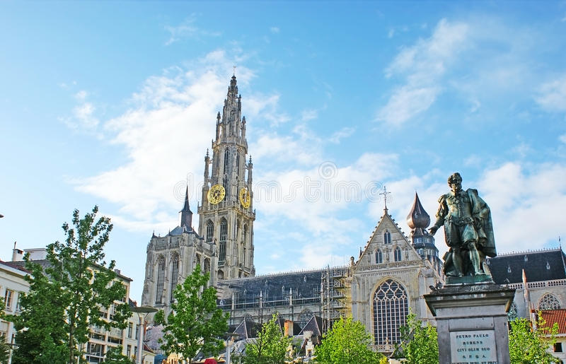 O monumento a Peter Paul Rubens foto de stock