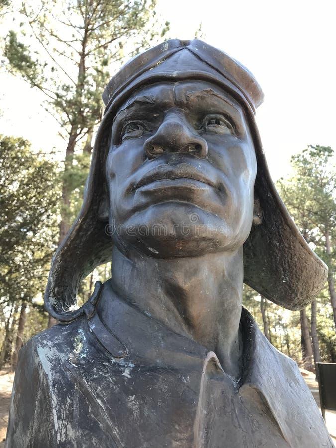 O monumento piloto principal do ` s no monumento dos aviadores de Tuskegee fotos de stock royalty free