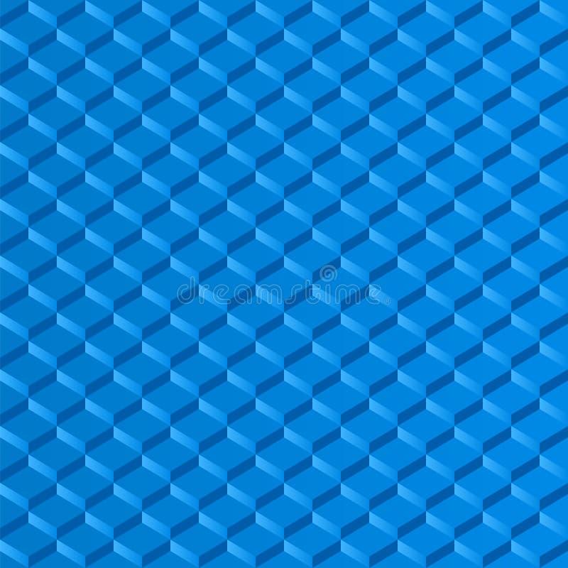 O mosaico esquadra a etapa azul do efeito de fundo ilustração stock