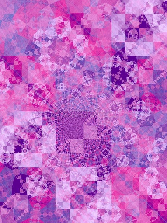 O mosaico roxo esquadra a textura