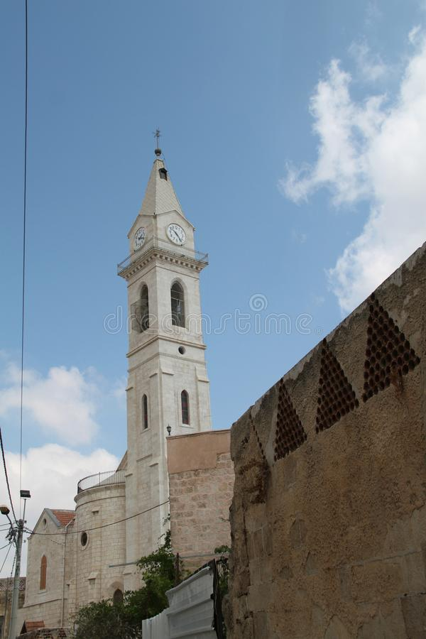 O mosteiro franciscano de São Nicodemus e José de Arimathea, Ramla, Israel imagens de stock