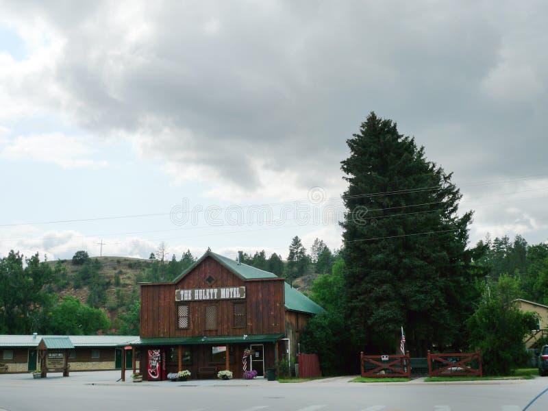 O motel de Hulett, Hulett, Wyoming fotografia de stock royalty free
