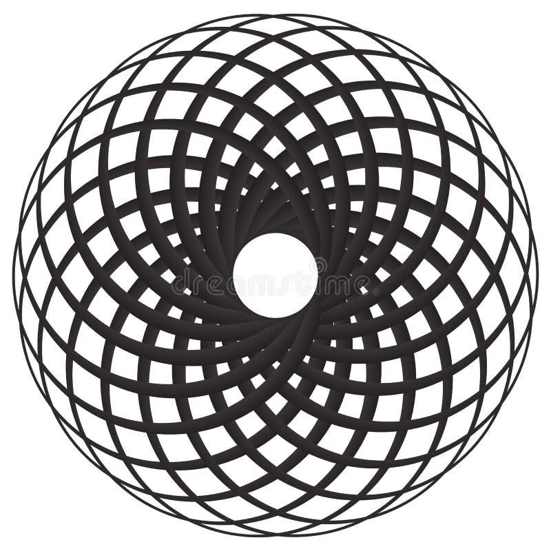 O motivo geométrico circular, elemento, círculos concêntricos abstrai s ilustração royalty free
