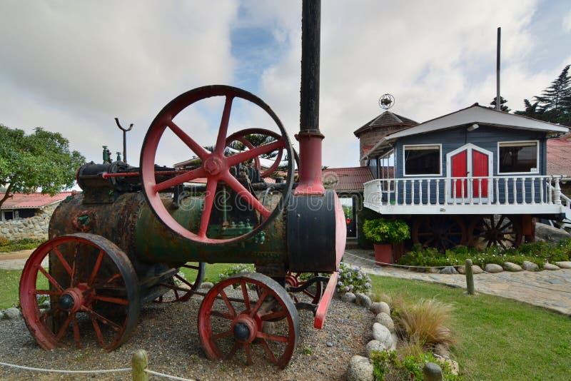 O motor do trem Museu da casa do de Isla Negra da casa de Pablo Neruda Isla Negra chile fotografia de stock
