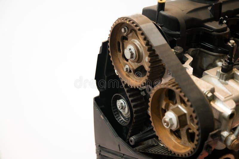 O motor poderoso de um carro Projeto interno do motor Peça do motor de automóveis fotos de stock royalty free
