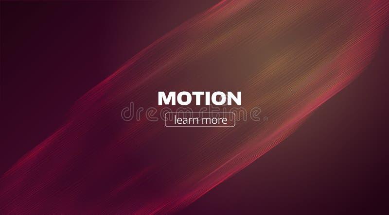 O movimento alinha o fundo Contexto mínimo do fluxo da onda Córrego da velocidade ilustração stock