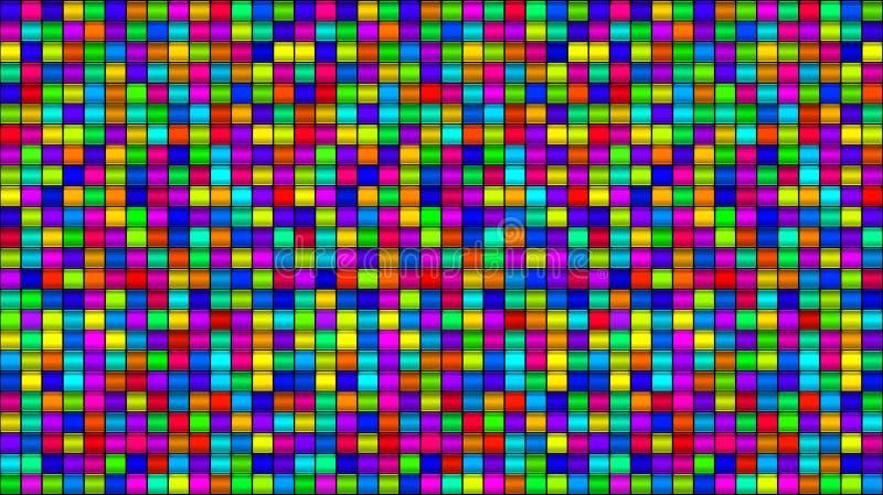 O multi vidro colorido esquadra o fundo ilustração do vetor