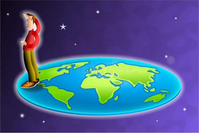 O mundo é liso ilustração royalty free