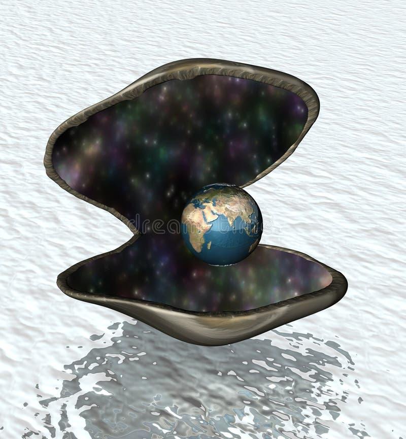 O mundo é sua ostra ilustração do vetor