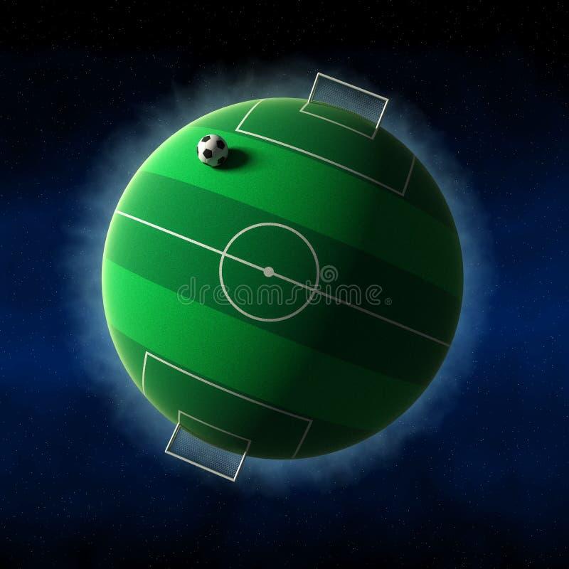 O mundo ama o futebol ilustração stock