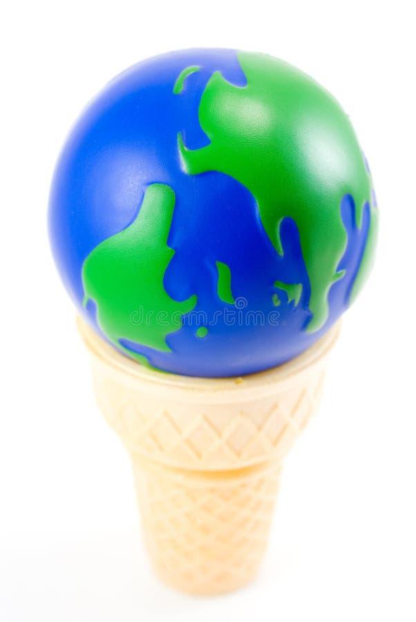 O mundo como um cone de gelado foto de stock royalty free