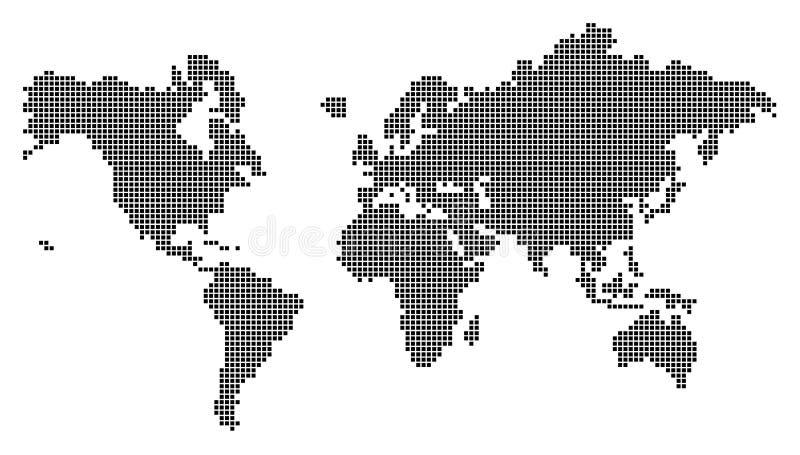 O mundo cuba III ilustração stock