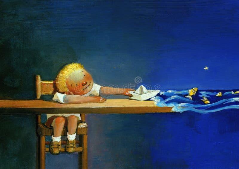 O mundo das crianças ilustração royalty free