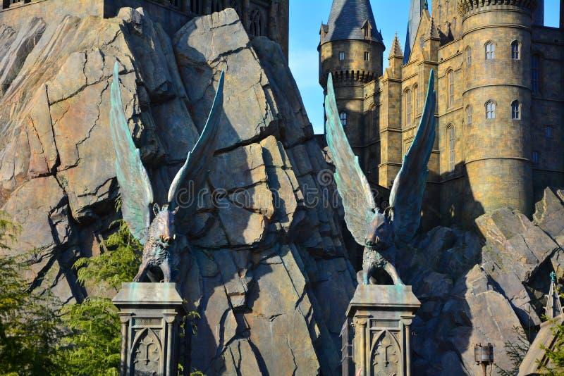 O mundo de Wizarding de Harry Potter no estúdio universal, Osaka imagens de stock royalty free