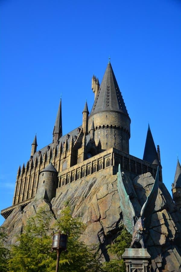 O mundo de Wizarding de Harry Potter no estúdio universal, Osaka foto de stock royalty free