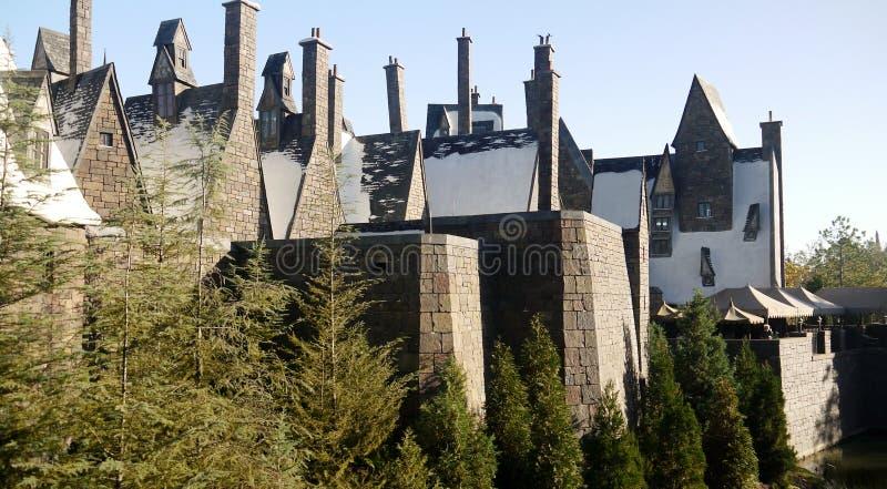 O mundo de Wizarding do castelo de Harry Potter imagens de stock royalty free