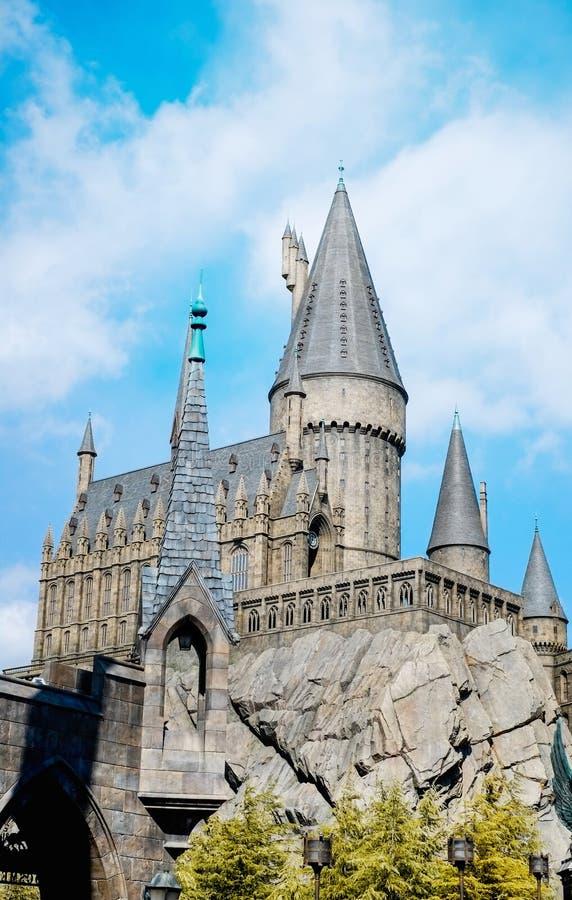 O mundo de Wizarding de Harry Potter em estúdios universais Japão USJ, Osaka, Japão imagens de stock royalty free